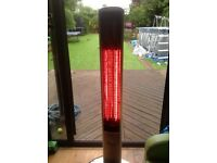 Firefly 1.8kw halogen bulb infrared slimline patio heater
