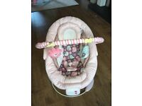 Baby girl vibrating chair