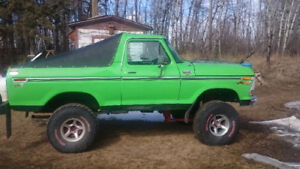 79 Ford Bronco Low miles lots of new parts