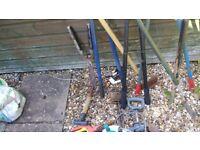 Selection garden tools , hose reel etc