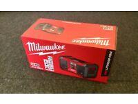 Brand New Milwaukee M18 Site Radio