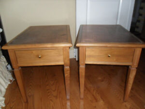 Mid Century modern walnut coffee and end tables