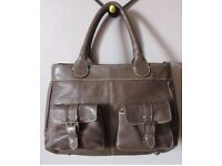 NEXT real leather handbag brown - excellent condition