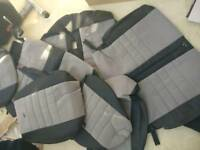 Vw caddy 2011 ( 7 seater half leather half cloth seat cover )