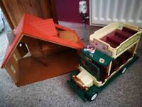 Sylvanian families house and bus