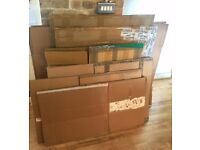 10 used Moving boxes - various sizes