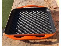 Le Creuset Volcanic cast iron square grill griddle