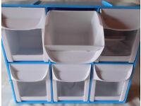Interlocking Storage Tilt Bins. 6 compartments:
