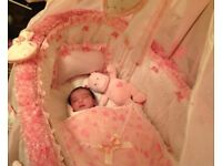 Baby wicker cribs with beautiful and lovely beautiful set for sale