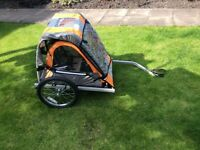 Double buggy child's bike trailer never been used