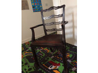 -wooden chair for sale; antique chair from pet and smoke free home