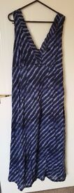 'Adini' Blue Dress - Size M (UK 14) Excellent As New / Unworn