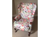 Floral Wingback chair