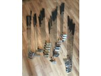 Assortment of golf clubs £2.50 each.