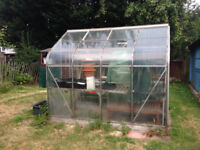 Greenhouse - includes (staging, a second mini greenhouse and nets)