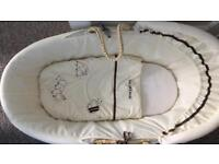 Bumble bee Moses basket with stand