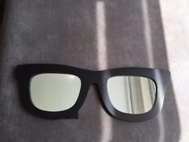 Sunglasses shape black Mirror