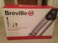 Brand New Breville pro set stainless steel hand blender.chop,whisk&blend pro guality stainless steel