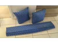 Blind with matching cushions
