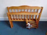 small wooden bed up to 6 years Good condition