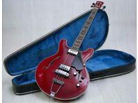 1960's Yamaha SA-70 Hollow body Bass Trans Cherry & Original Hard Case