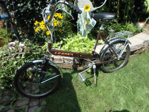 Vintage CDN LEADER FOLDING BIKE University Transport  yyuupp