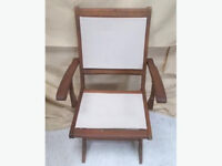 Brown and Cream Wooden Chair
