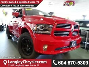 2016 RAM 1500 Sport W/ 4X4, LEATHER UPHOLSTERY & NAVIGATION