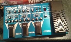 Boss me-50 electric guitar effects box