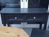 solid wood console table, solid wood tv unit free coffee table GRAPHITE will need people carrier van