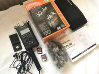 Tascam DR-40 Portable Digital Audio Recorder boxed inc all instructions. Beyer Dynamic Omni Cond Mic