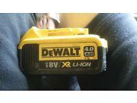 dewalt spare 18 v 4 amp battery