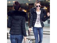 black parka coat size 10 ***BRAND NEW***