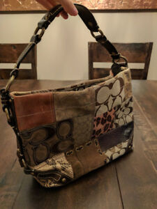 Authentic Coach Patchwork Bag