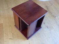 Mahogany Finish CD Storage Unit