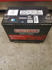 Motomaster battery in brand new condition