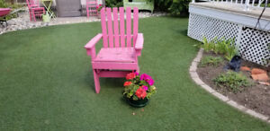 Funky Hot Pink Wooden Garden Chair