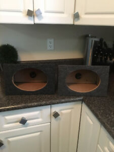 "Wedge-style boxes for 6""x9"" speakers (pair)"