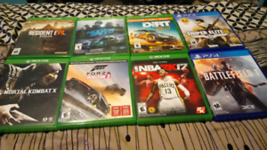 Xbox one games an Ps4