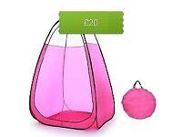 Pink pop up spray tan tent with carry bag