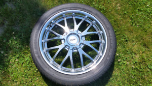 245/40R18 tires on tsw chrome rims
