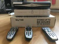 Sky hd and sky +box with remotes