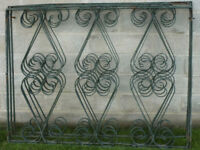 wrought iron scroll work pannels and posts
