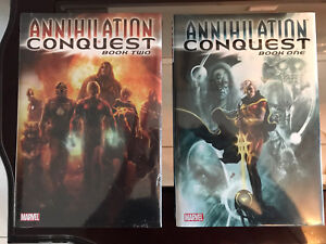 ANNIHILATION CONQUEST BOOK ONE & TWO MARVEL COMICS