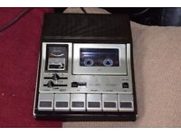 GRUNDIG STEREO CASSETTE RECORDER CAN BE SEEN WORKING