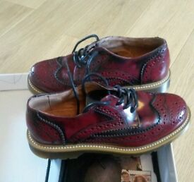 Bronx Oxblood Red Brogues Size 4 Womens