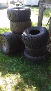 tires and two rims
