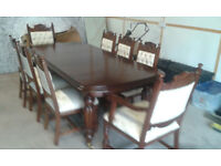 large dining room mahogany table and chairs