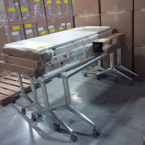 Commercial Work Tables with Chrome Base
