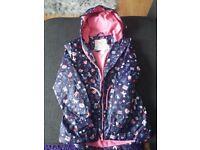 Girls rain jacket size 8-9 new